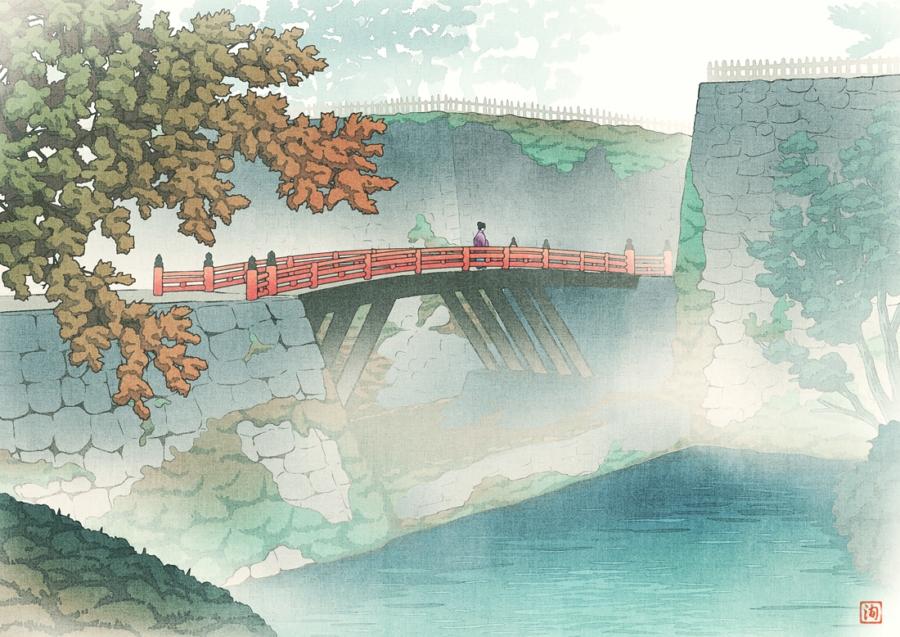 霧の廊下橋