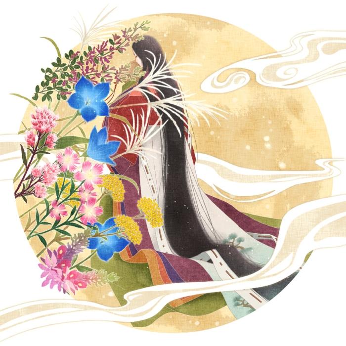 秋の七草と中秋の名月
