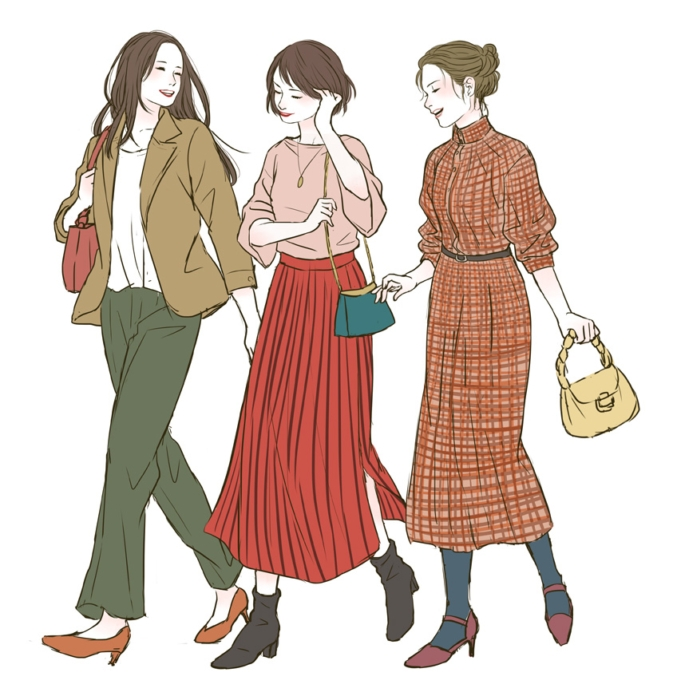 女性ファッション系イラスト・ラフ