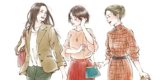 女性ファッション系イラスト