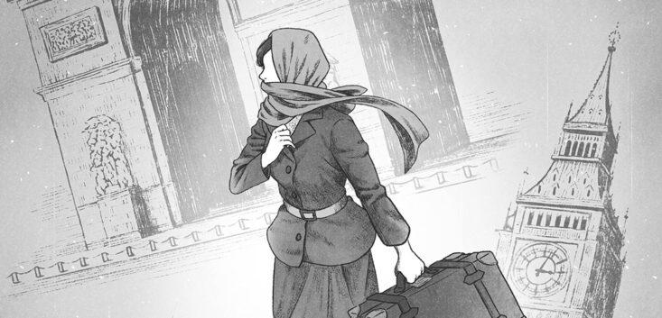 読楽2021年8月号・連載第6話「からさんの家」扉絵